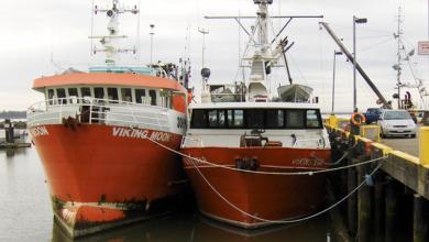 two bottom trawlers