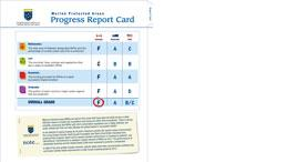 Marine Protected Areas Progress Report Card
